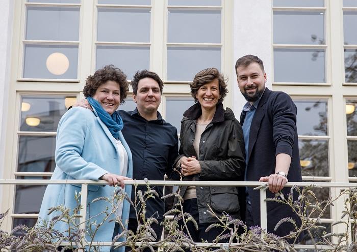 Iva Bízová (zleva), založila Loosers s kolegy Pavlem Burešem a Helenou Šídovou, následně se k nim přidal ještě Jakub Kesl (úplně vpravo), zdroj: Loosers