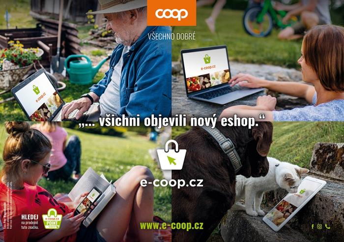 Od května v pilotním provozu, nyní již naostro začíná fungovat E-COOP online prodej potravin, zdroj: COOP