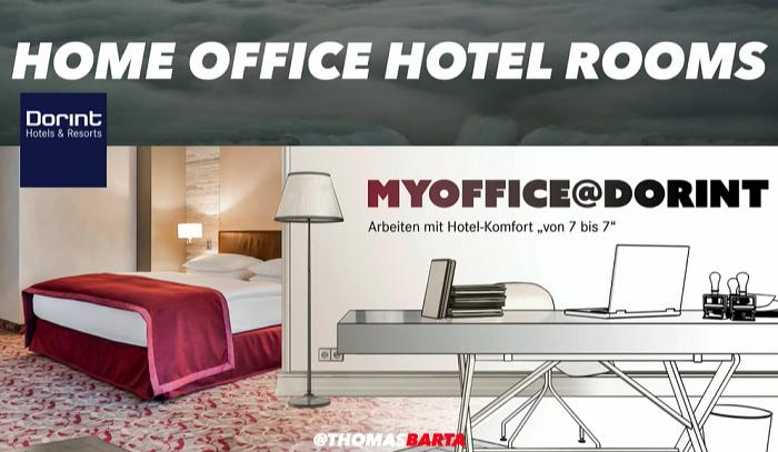 Ukázka nabídky home office hotelového pokoje, zdroj: Brand Management