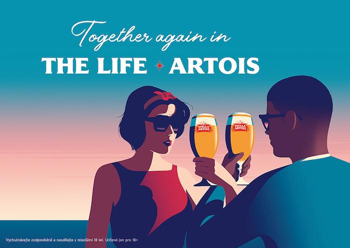 V nové kampani pracuje Stella Artois s ilustracemi v retro stylu, zdroj: Pivovary Staropramen.