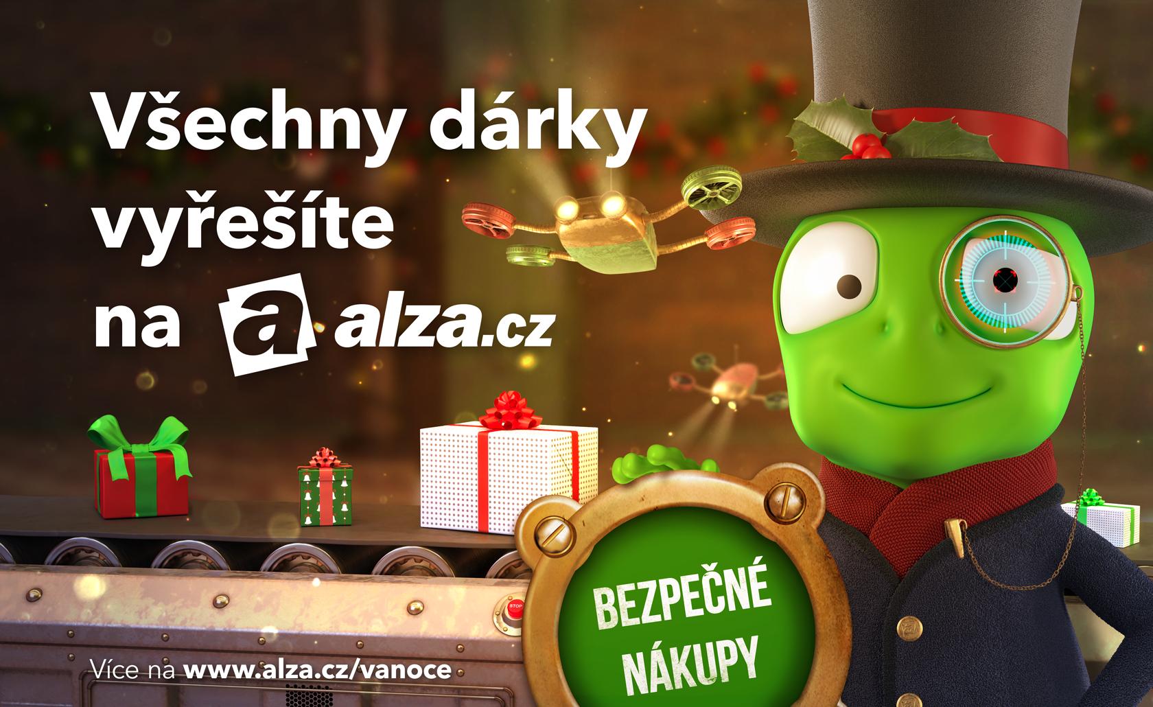 Klíčový vizuál k letošní vánoční kampani e-shopu Alza.cz, zdroj: Alza.cz