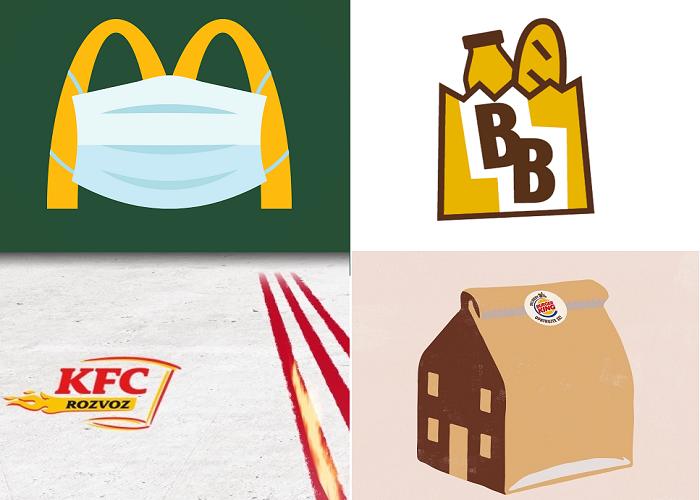 Zdroj: FB KFC, FB McDonald´s, FB Bageterie Boulevard a FB Burger King