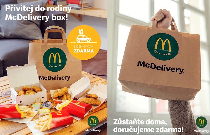 Rozvoz zažívá boom, v McDonald´s roste dvojnásobně, v případě KFC o 60 %, BB ho spustila na jaře a Burger King spustí vlastní rozvoz do konce roku, zdroj: FB McDonald´s