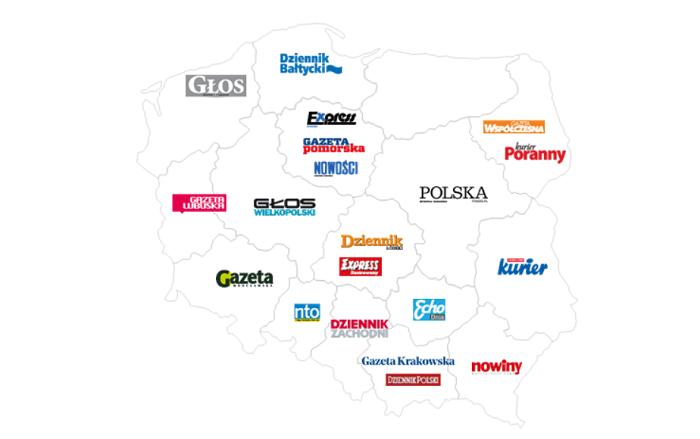 Portfolio polských regionálních deníků společnosti Polska Press, zdroj: Polska Press