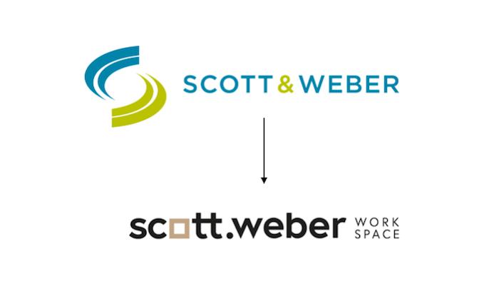 Změna loga společnosti Scott.Weber Workspace