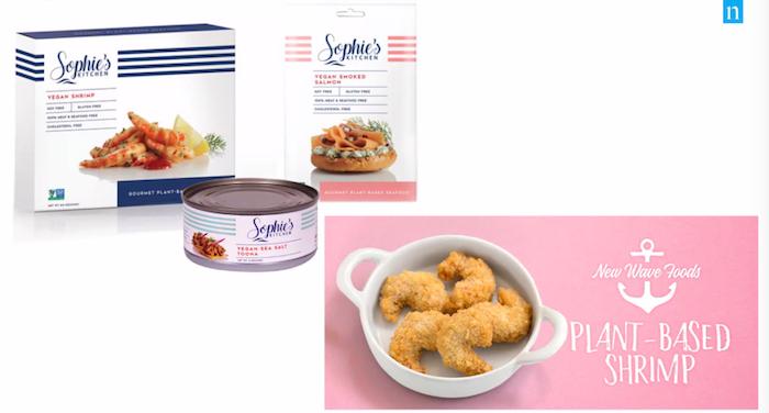 Vyrábí se rovněž i rostlinné krevety, zdroj: prezentace agentury Nielsen.