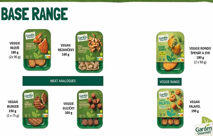 Základní řada napodobuje masové varianty jídel, zdroj: Nestlé