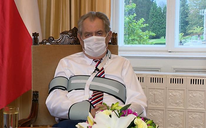 Projev prezidenta Miloše Zemana v pátek 16. října 2020, repro: FTV Prima