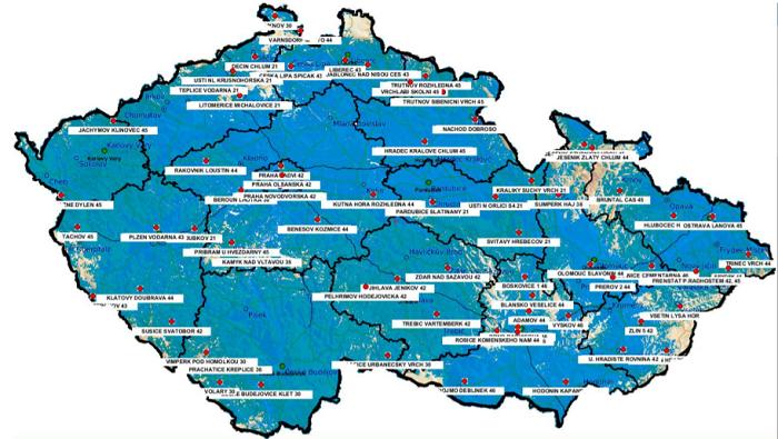 Pokrytí multiplexu 24 k 19. 10. 2020, zdroj: Digital Broadcasting