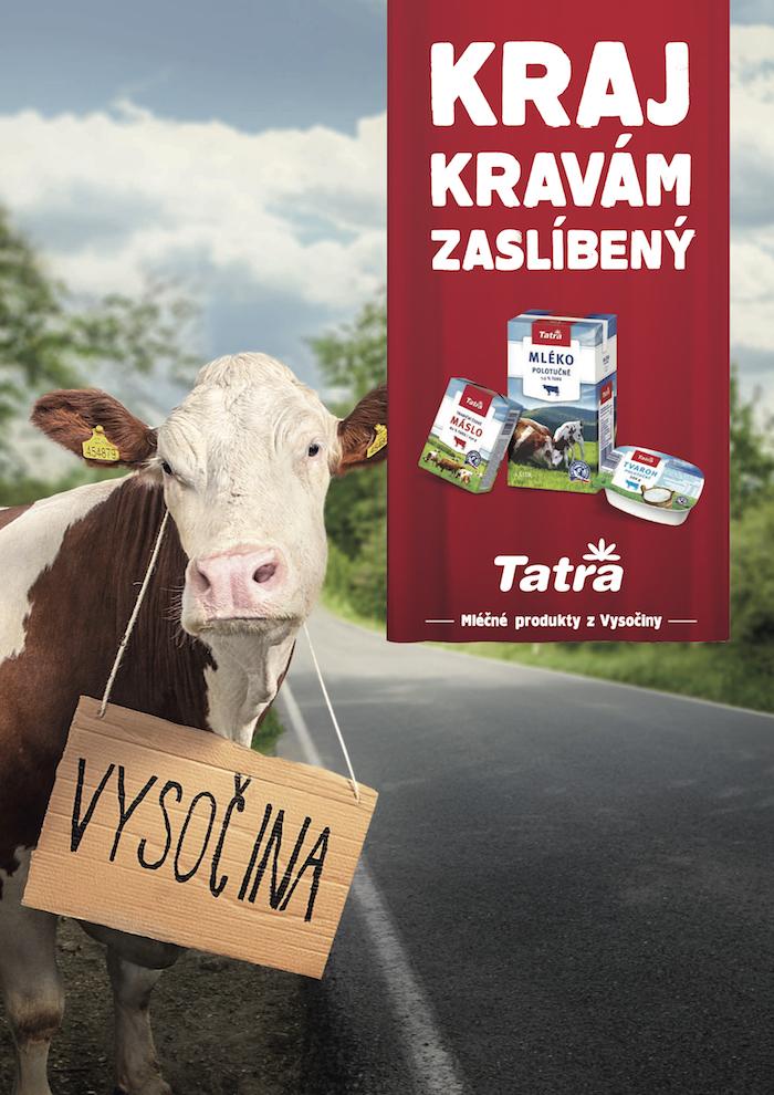 Klíčový vizuál k nové kampani mlékárenské značky Tatra, zdroj: VCCP