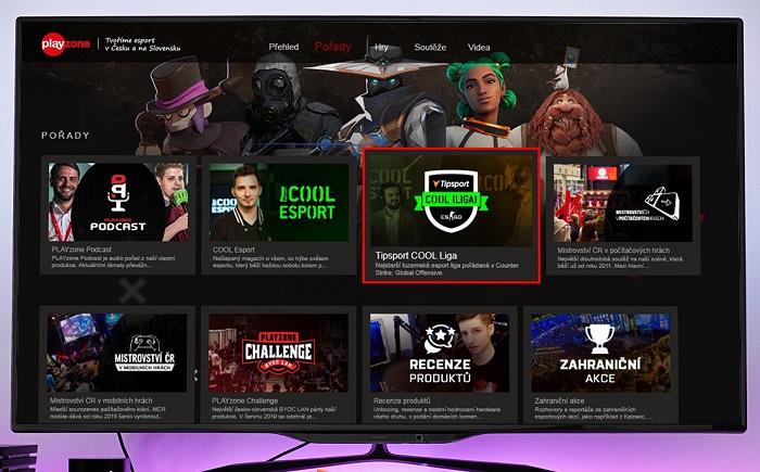 Nová HbbTV aplikace pro esportový obsah, zdroj: FTV Prima