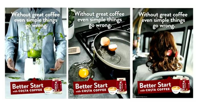 Ukázka globální kreativy nové kampaně Costa Coffee, zdroj: Coca-Cola HBC