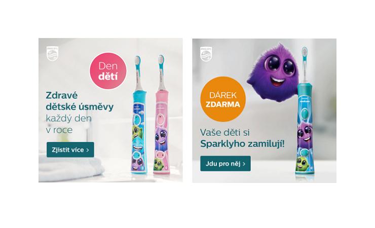 Letos podporuje Philip kartáčky pro děti dvěma kampaněmi, první byla na jaře, zdroj: Philips