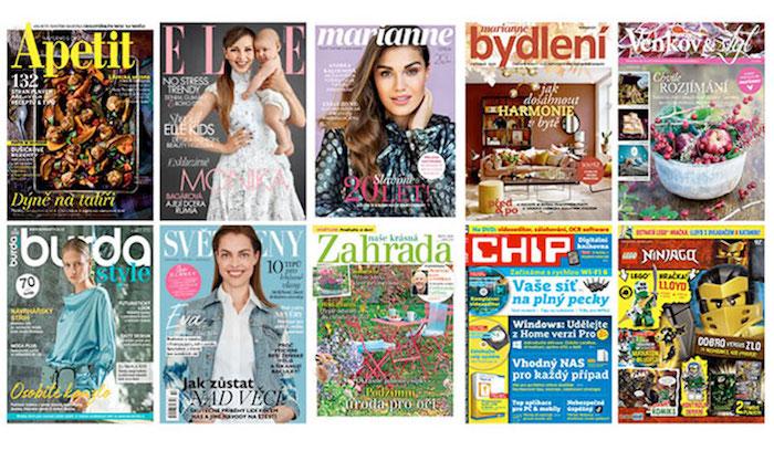 Burda se zaměří na rozšiřování strategických brandů, jako je Elle, Marianne nebo Apetit, zdroj: Burda International CZ.
