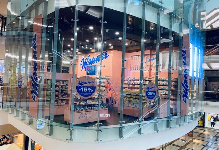 V pražském nákupním centru Palladium otevřela značka Manner svůj obchod, zdroj: Josef Manner.