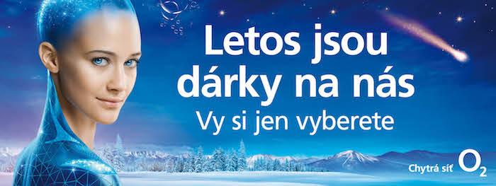 Klíčový vizuál k letošní vánoční kampani O2, zdroj: O2