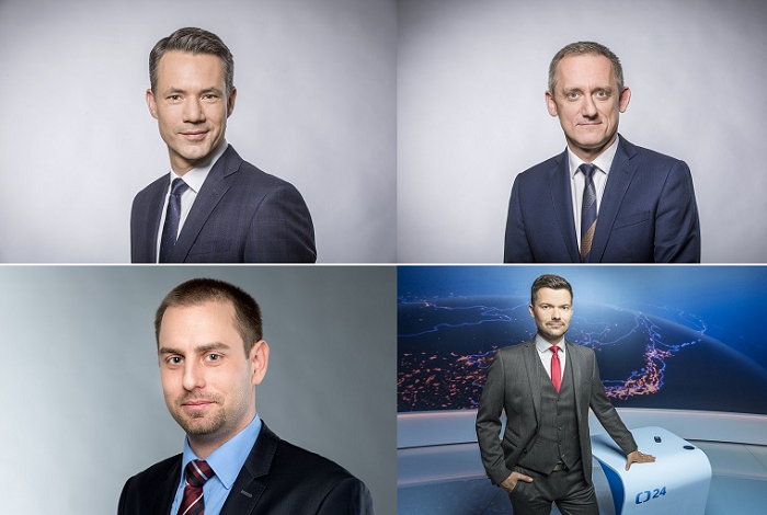 Martin Řezníček, Michal Kubal, David Miřejovský a Tomáš Drahoňovský, zdroj: ČT