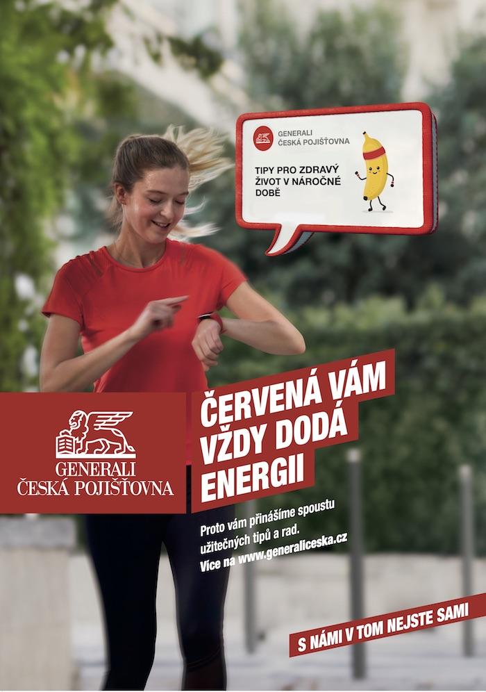 Klíčový vizuál k nové kampani Reditude, zdroj: Generali Česká pojišťovna