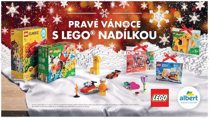 Před vánočními svátky nabízí Albert ve věrnostní kampani i stavebnici Lego, zdroj: Albert.