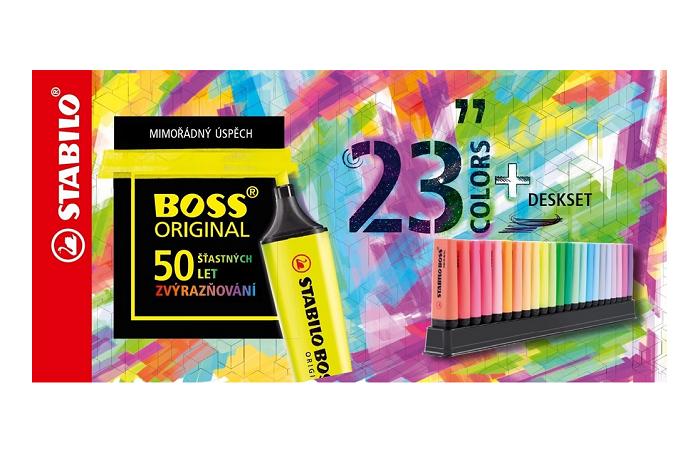 V lednu 2021 bude kampaní slavit 50 let na trhu nejprodávanější zvýrazňovač Stabilo Boss Original, zdroj: Stabilo