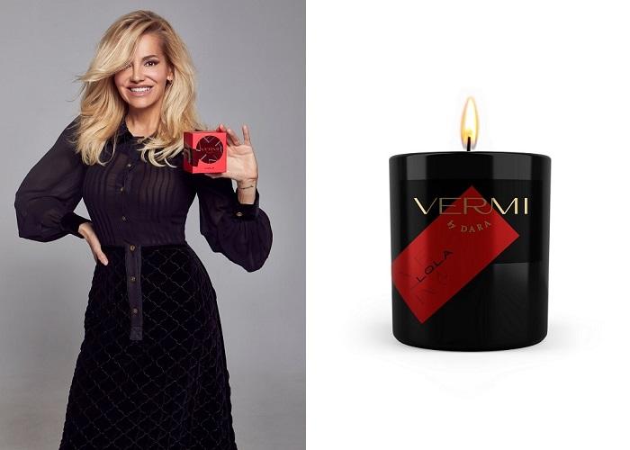 Dara Rolins a svíčka s její značkou Vermi, zdroj: Globus