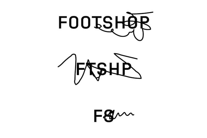 Nová vizuální identita pracuje s variacemi loga, někdy i přeškrtnutých čarami, zdroj: Footshop