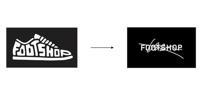 Změna loga značky Footshop, zdroj: Footshop