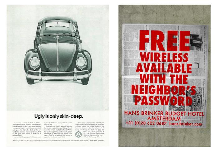 Ukázky reklam, v nichž automobilka Volkswagen a Hanks Brinker Budget Hotel přiznávají své chyby, zdroj: CS.