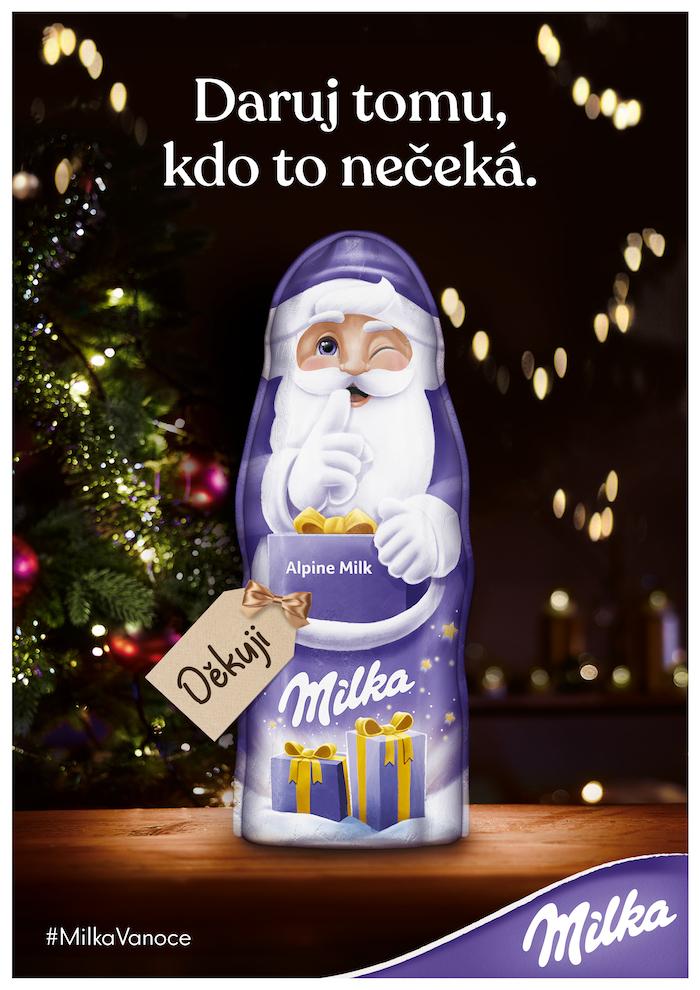 Klíčový vizuál k vánoční kampani značky Milka, zdroj: Mondelēz International