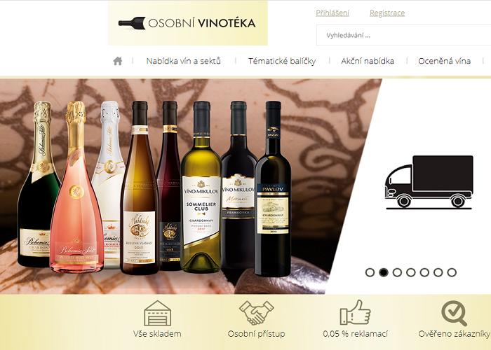 Bohemia Sekt prodává svá vína hlavně v maloobchodě, ale v letošním roce navíc posílili prodej prostřednictvím e-shopu, zdroj: web Bohemia Sekt