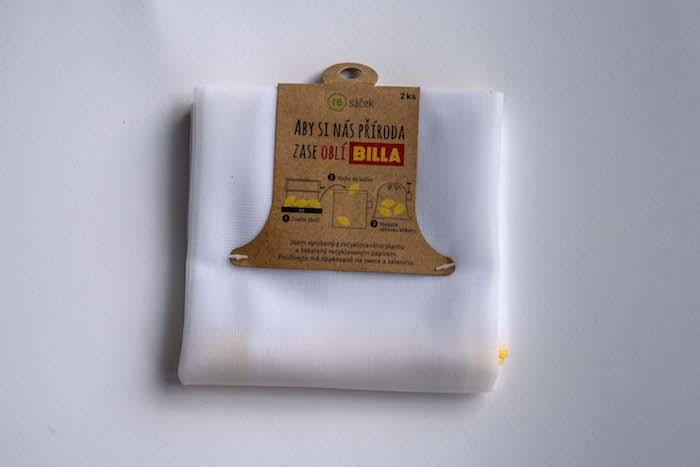 Resáček je z 80 % vyrobený z recyklovaného plastu, zdroj: Billa.