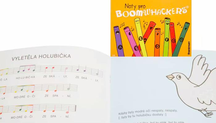 Publikace na podporu prodeje novinky BoomWhackers, zdroj: Kytary.cz.