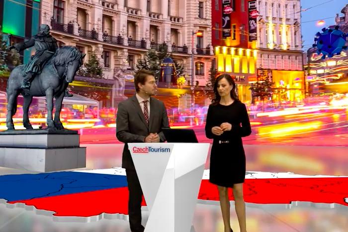 Agentura CzechTourism svou novou strategii prezentovala prostřednictvím virtuálního televizního studia, foto: MediaGuru.
