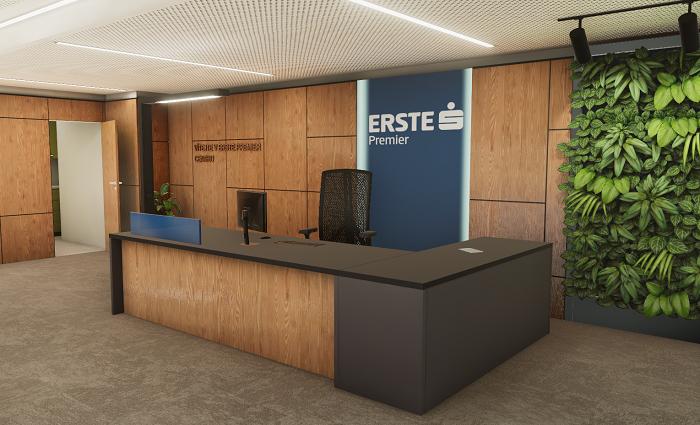 Vizualizace nového Erste Private Centra, zdroj: Česká spořitelna
