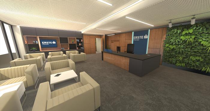 Erste Private Centrum v Karlíně – virtuální realita, zdroj: Česká spořitelna