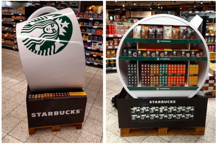Vítězem v kategorii POP materiál na bázi papíru je společnost Authentica se svým návrhem pro Starbucks, zdroj: POPAI.
