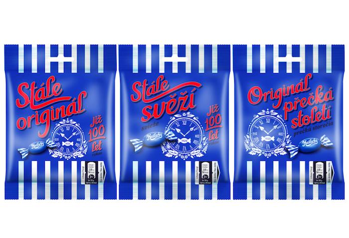 Výroční obaly značky Hašlerky, zdroj: Nestlé