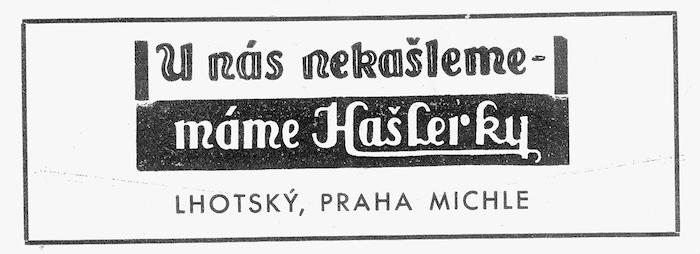 Hašlerky se dříve prezentovaly jako bonbóny proti kašli a chrapotu, zdroj: Nestlé.
