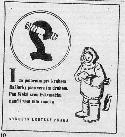 Hašlerky často pracovaly s básničkami, zdroj: Nestlé.