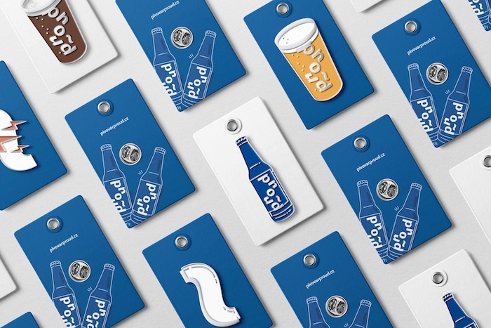Vizuální identitu pivovaru Proud vytvořilo studio ArtBureau, zdroj: ADC.
