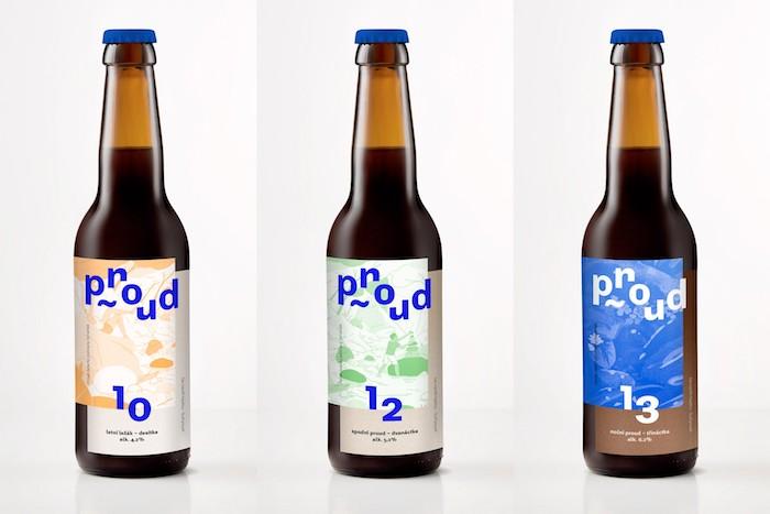 Ukázka obalů pivovaru Proud, zdroj: ADC