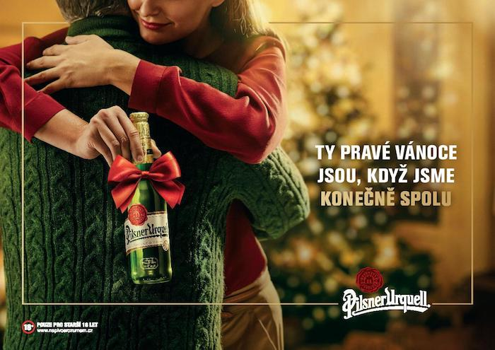 Klíčový vizuál k vánoční kampani Pilsner Urquell, zdroj: Plzeňský Prazdroj