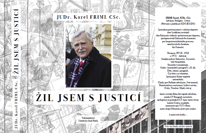Přebal knihy Karla Frimla Život s justicí