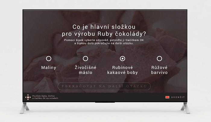 Aplikace použitá pro podporu uvedení nové příchutě Magnum Ruby, zdroj: FTV Prima