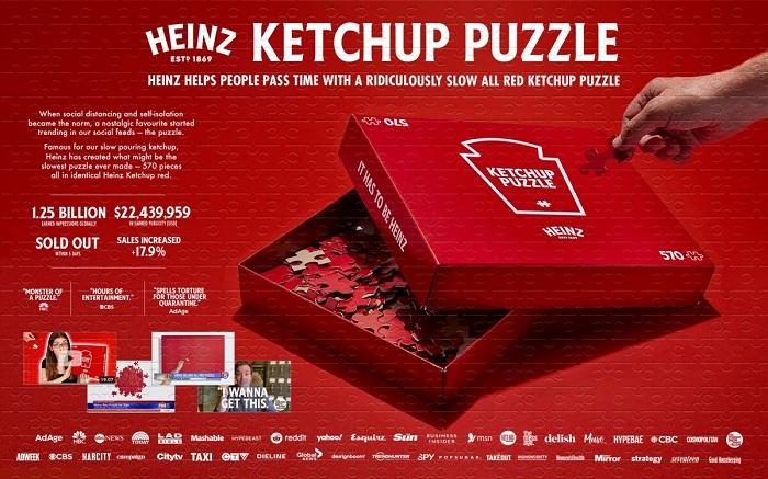 Kampaň Heinz skládačka, zdroj: Epica Awards