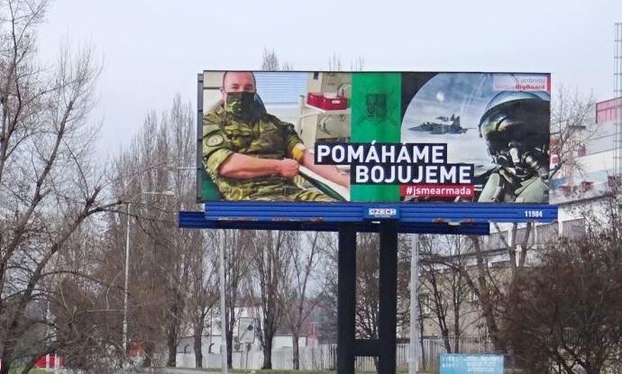 Kampaň na podporu Armády ČR, zdroj: BigBoard