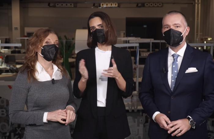 Daniela Drtinová, Daniela Písařovicová a Martin Veselovský, repro: DVTV