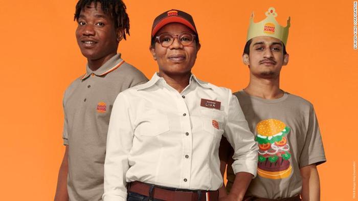 Nové uniformy zaměstnanců Burger King, zdroj: Burger King