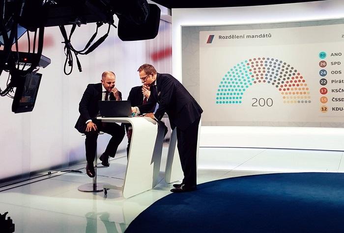 Volební studio ČT, foto: Česká televize