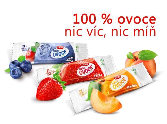 100% ovocné tyčinky, které společnosti Emco otevřely dveře do bio obchodů, foto: Emco.